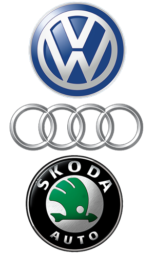 Volkswagen, Audi and Skoda Logo